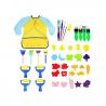 Juego de brochas de esponja para niños de aprendizaje temprano, 42 piezas