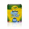 Crayola Super Tips, marcadores de tinta lavable (100 unidades)