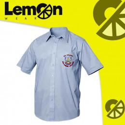 Camisas azul escolar unisex...