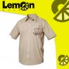Camisas beige escolar unisex San Gabriel Arcángel